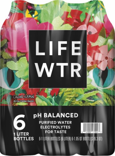 LIFEWTR® with Electrolytes Purified Life Water Perspective: back