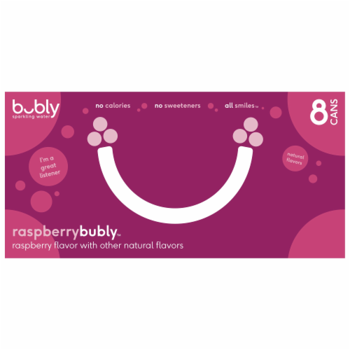 bubly Sparkling Water Raspberry Perspective: back