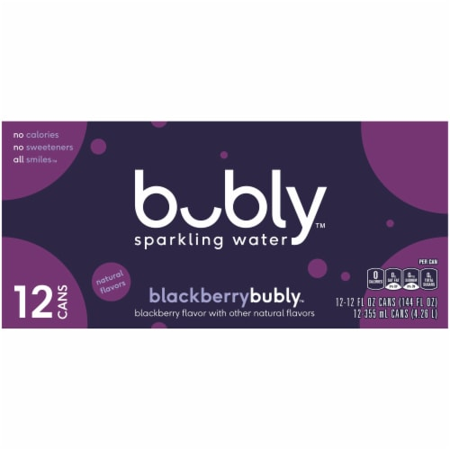 bubly Blackberry Sparkling Water Perspective: back