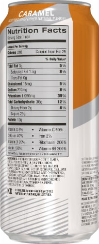 Starbucks TripleShot Caramel Extra Strength Energy Coffee Drink Perspective: back