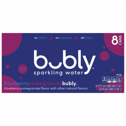 bubly Blueberry Pomegranate Sparkling Water Perspective: back