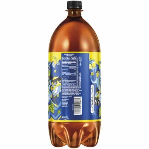 Lipton Brisk Lemon Iced Tea 2 Liter Bottle Perspective: back