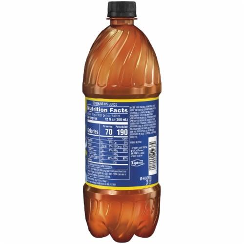 Brisk Iced Tea Lemon 1 Liter Bottle Perspective: back