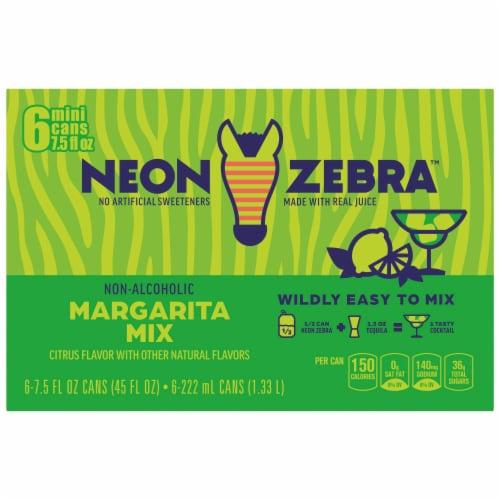 Neon Zebra Citrus Flavor Margarita Mix Perspective: back