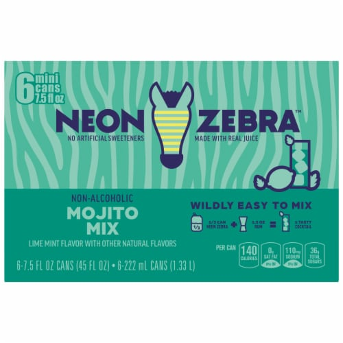 Neon Zebra Mojito Mix Lime Mint Flavor Perspective: back