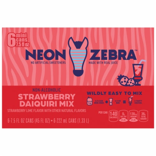 Neon Zebra Strawberry Daiquiri Mix Strawberry Lime Flavor Perspective: back