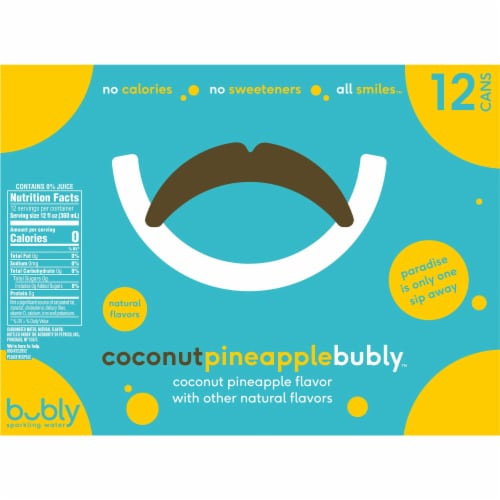 Bubly Coconut Pineapple Sparkling Water Perspective: back