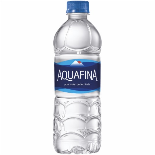 Aquafina Purified Bottled Water Perspective: back