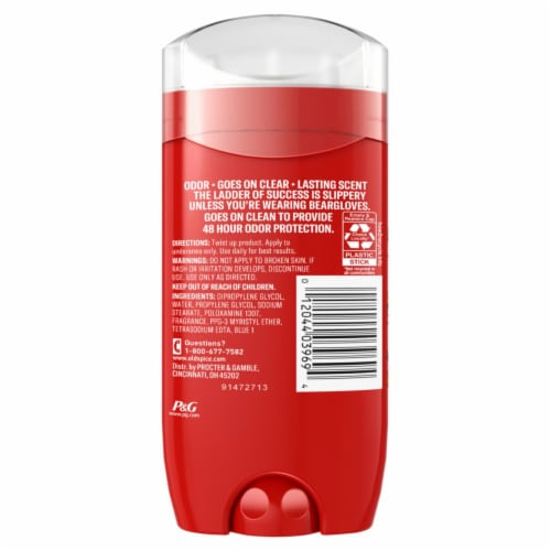 Old Spice Men Aluminum Free Deodorant Bearglove 48 Hr. Protection Perspective: back