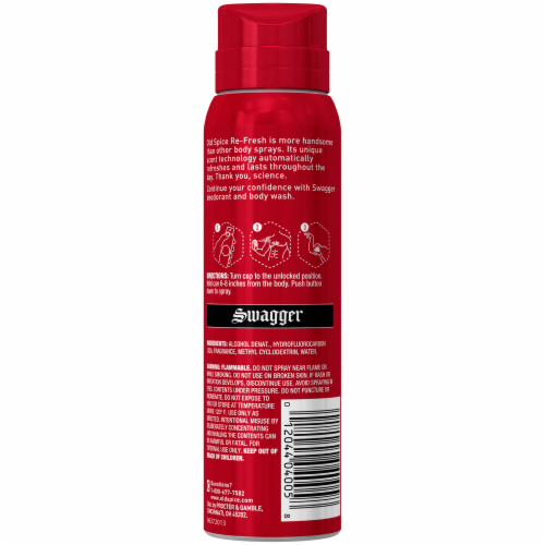 Old Spice® Red Zone Collection Re-Fresh Swagger Body Spray Perspective: back