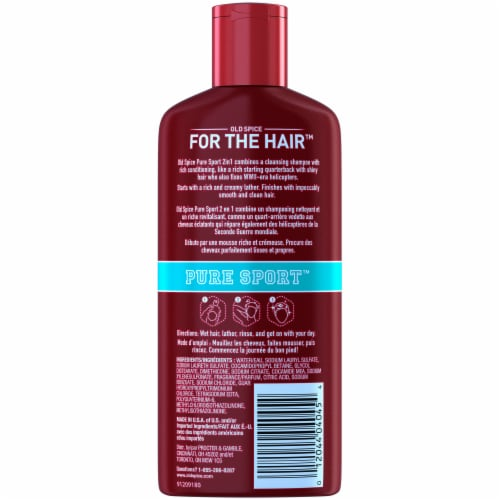 Old Spice Pure Sport 2-In-1 Shampoo & Conditioner Perspective: back