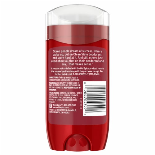 Old Spice Men Clean Slate Ultra Smooth Deodorant Perspective: back