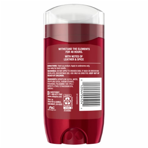 Old Spice Men Red Reserve Deodorant Aluminum Free Dynasty Cologne Scent Perspective: back
