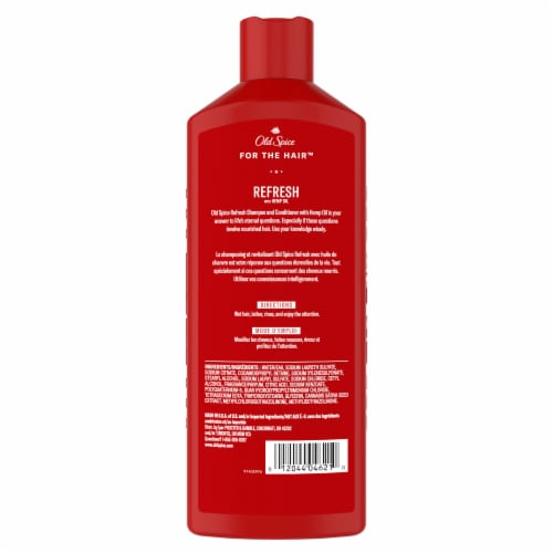 Old Spice Refresh 2-in-1 Shampoo & Conditioner Perspective: back