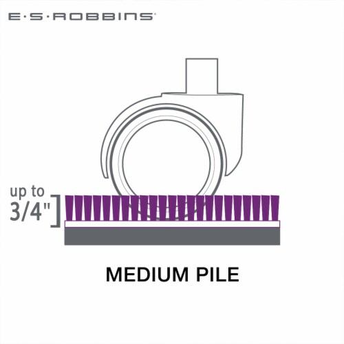 ES Robbins 46 Inch x 60 Inch Everlife Carpet Chair Mat for 3/4 Inch Thick Carpet Perspective: back
