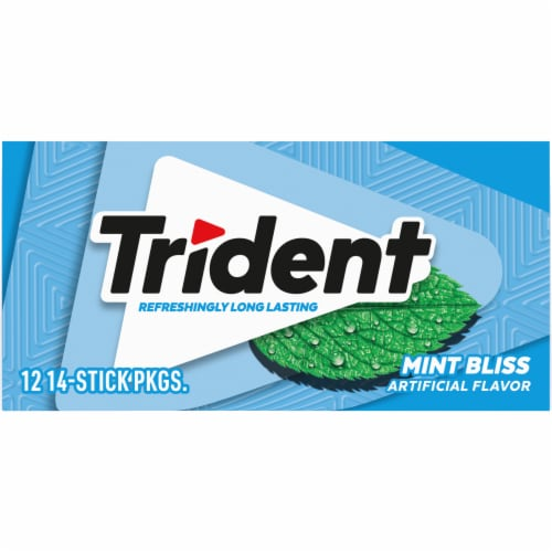 Trident Sugar Free Mint Bliss Gum Perspective: back