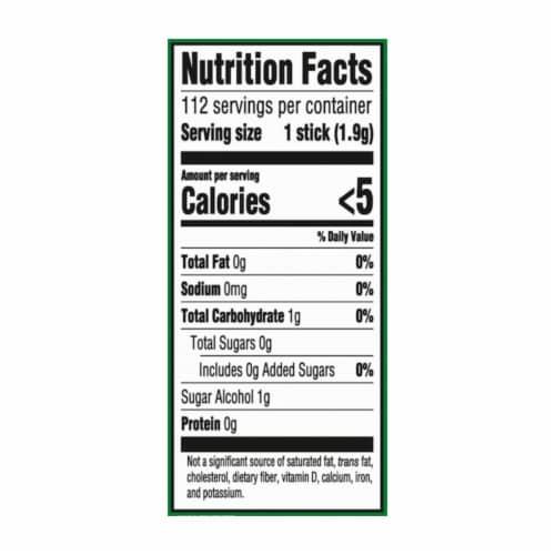 Trident Sugar Free Spearmint Gum Perspective: back