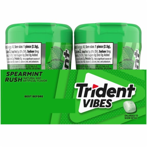 Trident Vibes Spearmint Rush Gum Perspective: back