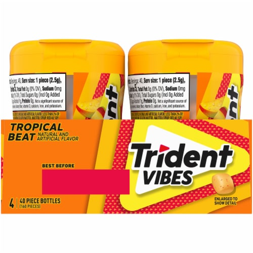 Trident Vibes Tropical Beat Gum Perspective: back