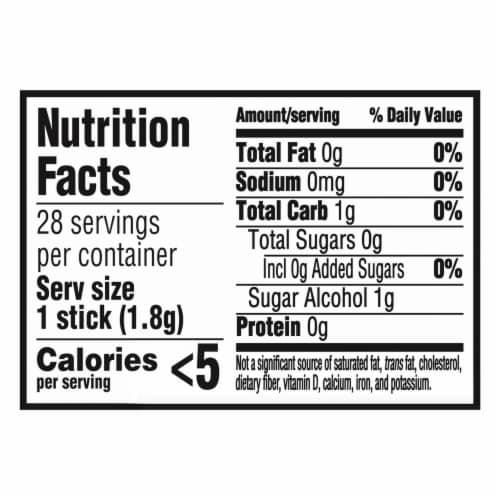 Trident Spearmint Sugar Free Gum Perspective: back