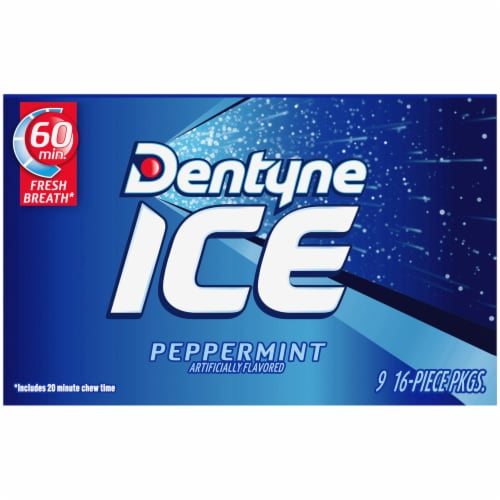 Dentyne Ice Peppermint Sugar Free Gum Perspective: back