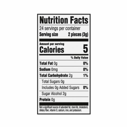 Trident White Peppermint Sugar Free Gum Perspective: back