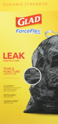 Glad® ForceFlex with Clorox Mountain Air 30 Gallon Large Drawstring Trash Bags Perspective: back