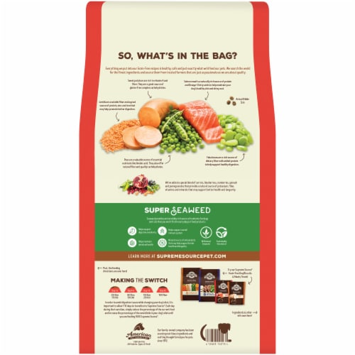 Supreme Source Grain-Free Salmon Meal and Sweet Potato Recipe Dry Dog Food Perspective: back