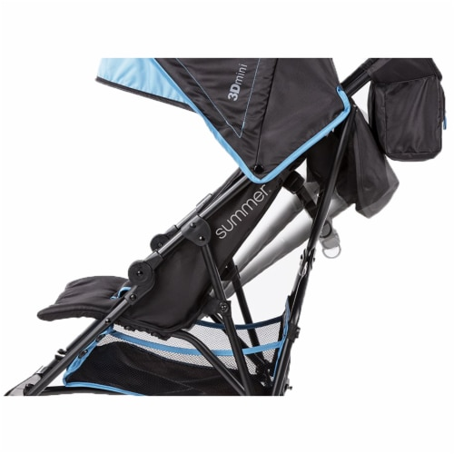 Summer Infant 3Dmini Convenience Lightweight Foldable Travel Baby Stroller, Blue Perspective: back