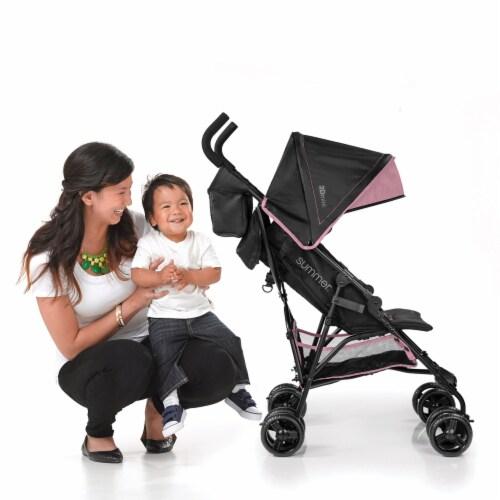 Summer Infant 3Dmini Lightweight Folding Convenience Toddler Baby Stroller, Pink Perspective: back