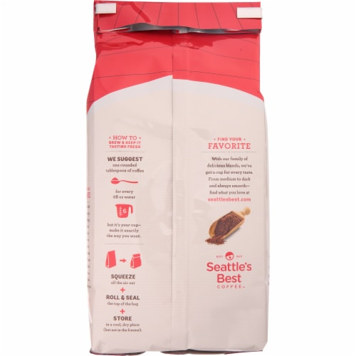 Seattle's Best Level 4 Medium-Dark & Rich Ground Coffee Perspective: back