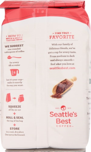 Seattle's Best Henry's Blend Dark Roast Ground Coffee Perspective: back
