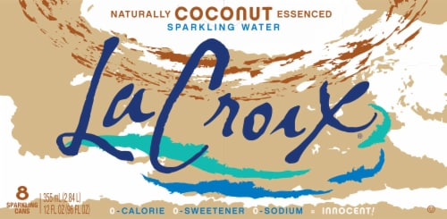 LaCroix Coconut Sparkling Water Perspective: back