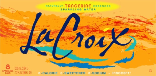 LaCroix Tangerine Sparkling Water Perspective: back