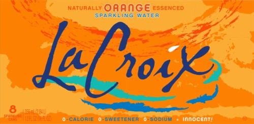 LaCroix Orange Sparkling Water Perspective: back