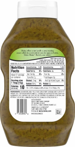 Heinz Sweet Relish Twin Pack Perspective: back