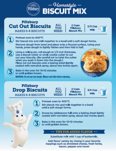 Pillsbury Homestyle Biscuit Mix Perspective: back