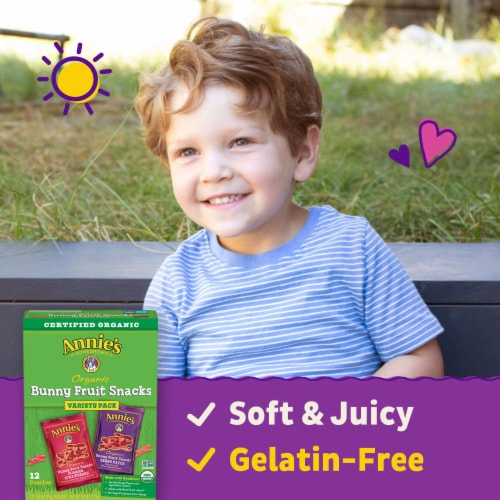 Annie's Organic Bunny Fruit Snacks Variety Pack Perspective: back