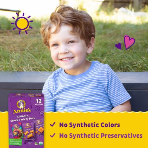 Annie's Homegrown Snack Time Variety Pack Perspective: back