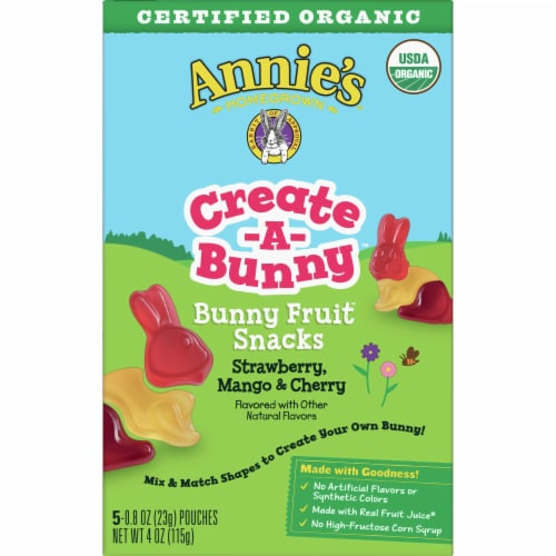 Annie's Organic Create-A-Bunny Fruit Snacks Perspective: back