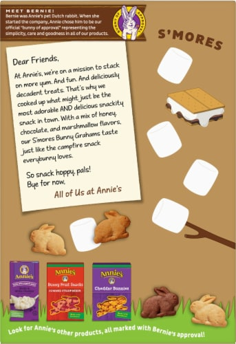 Annie's Organic S'Mores Bunny Grahams Perspective: back