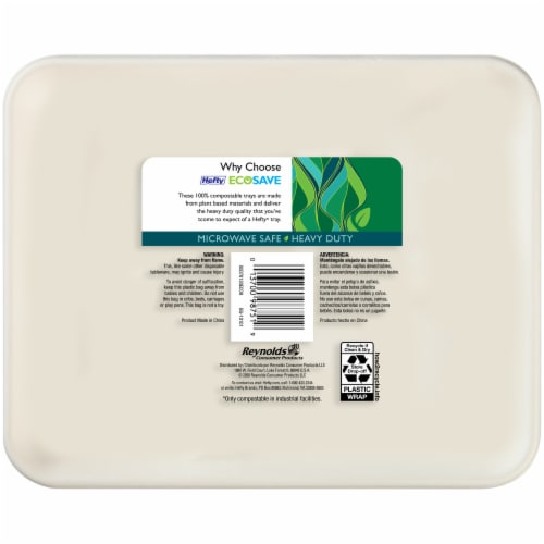Hefty EcoSave Compostable Compartment Trays Perspective: back