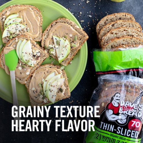 Dave's Killer Bread® Organic Thin-Sliced 21 Whole Grains and Seeds Bread Perspective: back