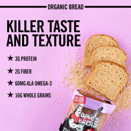 Dave's Killer Bread® Organic Thin-Sliced 100% Whole Wheat Bread Perspective: back