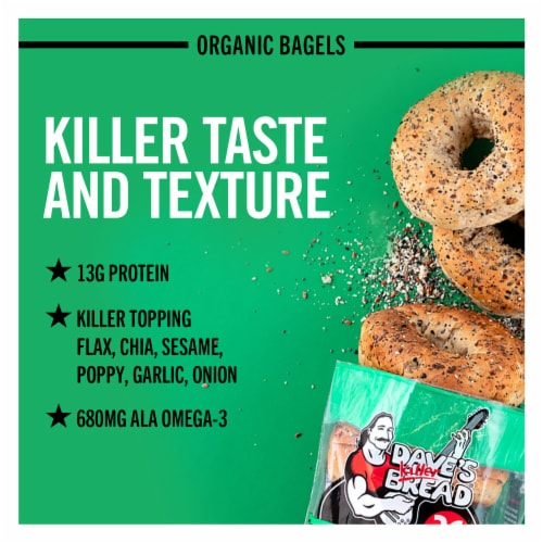 Dave's Killer Bread® Organic Epic Everything Bagels Perspective: back