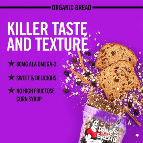 Dave's Killer Bread® Organic Raisin' the Roof! Bread Perspective: back