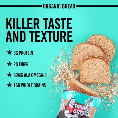 Dave's Killer Bread® Organic Sprouted Whole Grains Bread Perspective: back