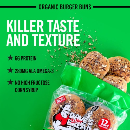 Dave's Killer Bread® 21 Whole Grains and Seeds Organic Burger Buns Perspective: back