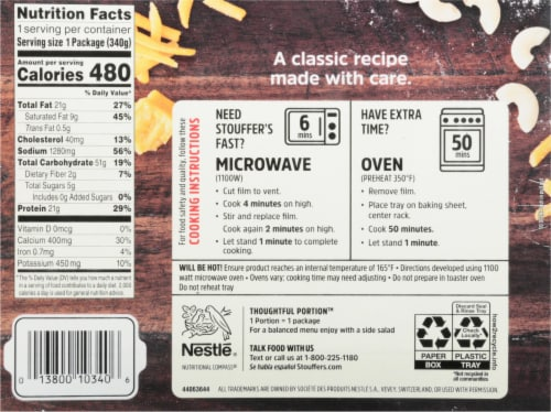 Stouffer's® Macaroni & Cheese Frozen Meal Perspective: back