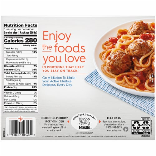 Lean Cuisine® Favorites Spaghetti With Meatballs Frozen Meal Perspective: back